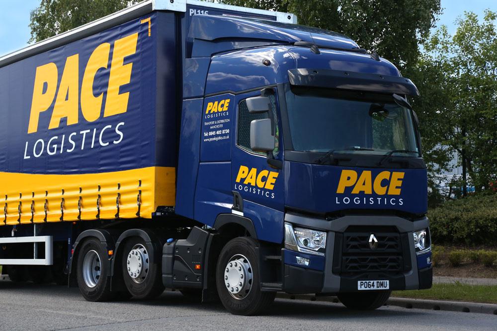 Pace Logistics Haulage Fleet Manchester