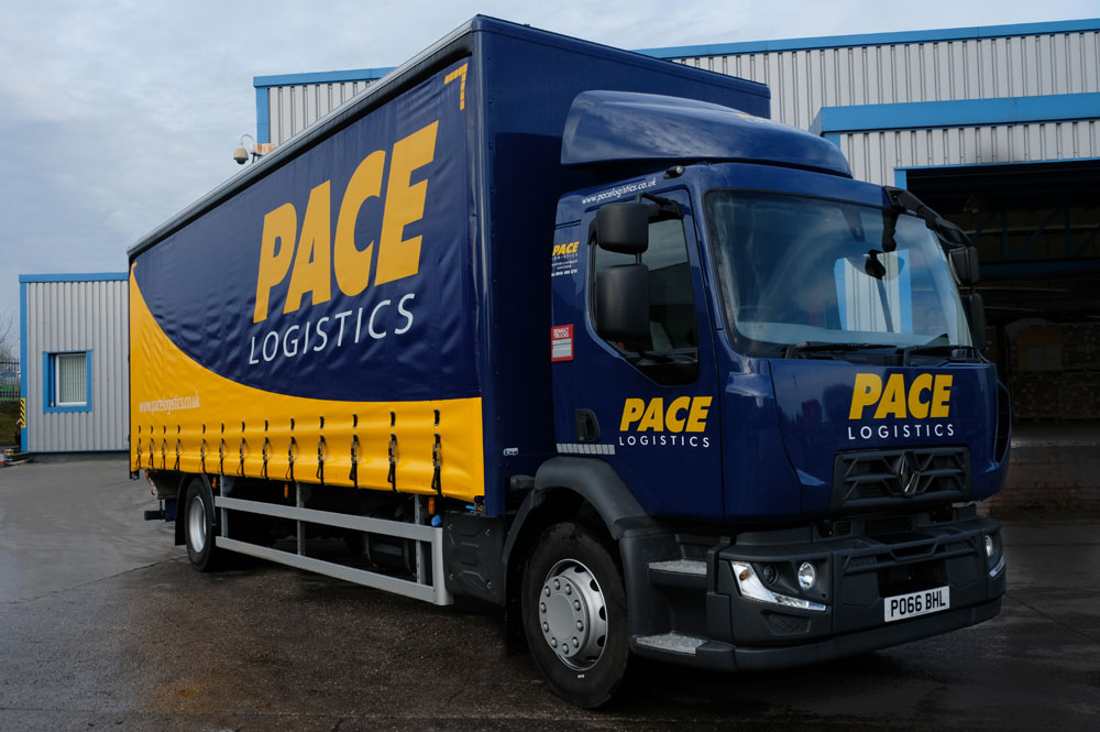 Pace Logistics Manchester Pallet Delivery Vehicle.