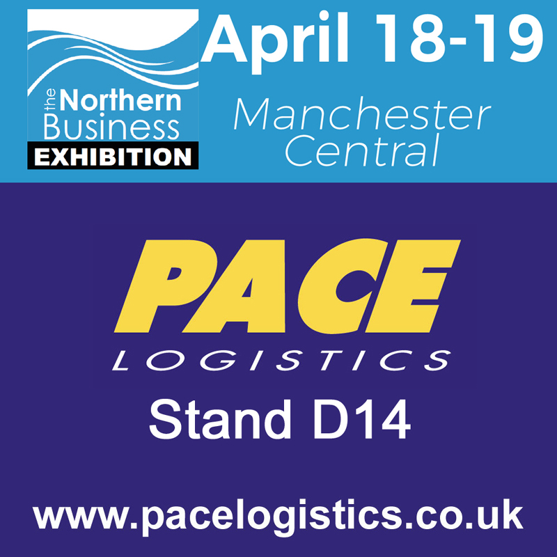 Pace Logistics at Northern Business Exhibition Manchester Central April 18th and 19th 2018
