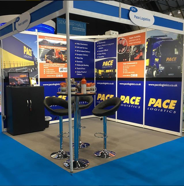 Pace Logistics Exhibition Stand at The Northern Business Exhibition Manchester