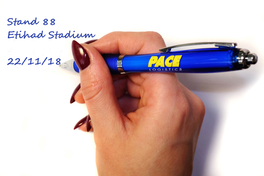 Make a note to visit Pace Logistics at the Manchester exhibition