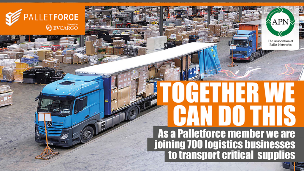 Together we can do this.  Pace Logistics as a Palletforce member is joining 700 logistics businesses to transport critical supplies.