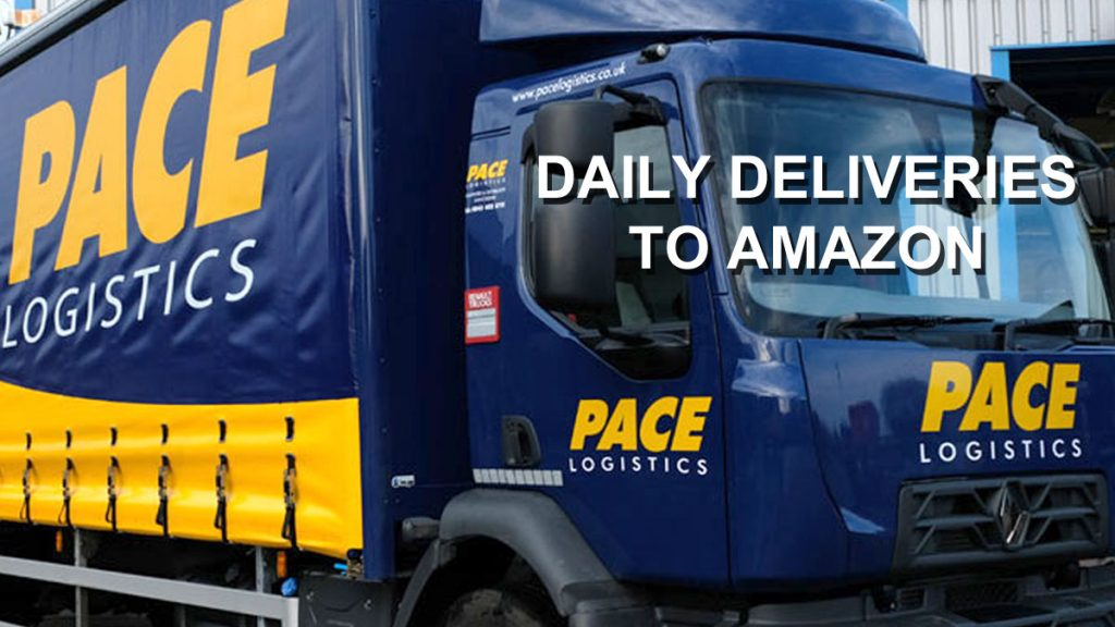 Daily pallet deliveries to Amazon UK by Pace Logistics